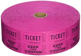 com double hot pink raffle ticket roll per roll com double hot pink raffle ticket roll 2000 per roll office products