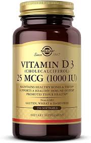 Solgar <b>Vitamin D3</b> (<b>Cholecalciferol</b>) <b>1000</b> IU, 250 Softgels: Amazon ...