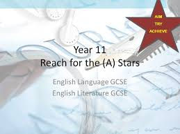 Year    Reach for the  A  Stars English Language GCSE English     SlidePlayer What do the courses include