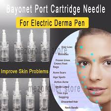 100pcs/lot Mezoroller <b>Bayonet Cartridge Replacement For</b> Derma ...