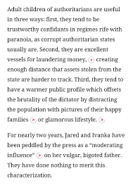sarah kendzior sarahkendzior twitter the trump administration is building a dynastic kleptocracy and ivanka and jared should be removed from power