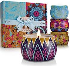 gift soy scented candles dried