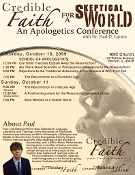 conferences credible faith bulletin insert side a