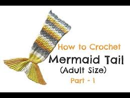 How to Crochet <b>Mermaid Tail</b> (Adult size) - Part 1 - YouTube