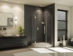 bathroom ideas corner shower design:  contemporary frameless glass corner shower design design innovate building solutions