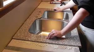Kitchen Tile Countertop Lazy Granite Kitchen Countertop Installation Video Youtube