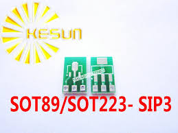 <b>50 PCS SOT89 SOT223</b> gilirannya SIP3 DIP 1.5/2.3 Pitch Zener ...