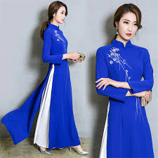 <b>2019</b> New Arrival Graceful Vietnam Style Floral Traditional <b>Dress</b> for ...