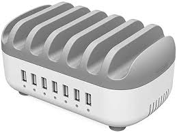 7 Ports Charging Station for Multiple Devices ... - Amazon.com