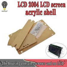 <b>Transparent Acrylic Shell</b> for LCD2004 LCD Screen with Screw/Nut ...