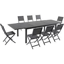Naples <b>9</b>-<b>Piece</b> Aluminum <b>Outdoor</b> Dining Set with 8-<b>Folding</b> Sling ...
