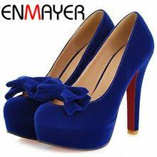 <b>ENMAYER New</b> Arrival High Heel <b>Shoes</b> Sexy Casual Sweet Bow ...