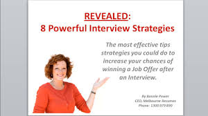 8 powerful job interview strategies revealed by bonnie power 8 powerful job interview strategies revealed by bonnie power melbourne resumes on vimeo