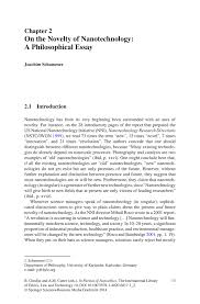 on the novelty of nanotechnology a philosophical essay springer inside