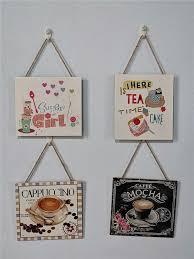 Buy 1Pc <b>Vintage</b> Coffee Sign <b>Hanging Plaque</b> Home Cafe <b>Wall</b> ...