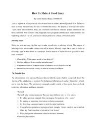 how to make a good essay essays paragraph