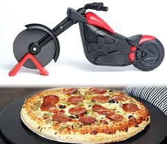 Motorcycle <b>Pizza Cutter</b> Stainless Steel <b>Pizza Wheel</b> Cutter <b>Knife</b> ...