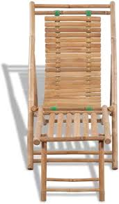 ZAMAX Outdoor Bamboo Relax Deck Chair with ... - Amazon.com