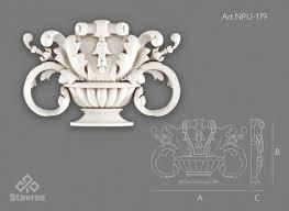 <b>Декоративная накладка из</b> полиуретана - Ставрос