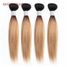 <b>MOGUL HAIR</b> 1 Bundle Ombre Three Tone 1B 4 27 Blonde 4 30 27 ...