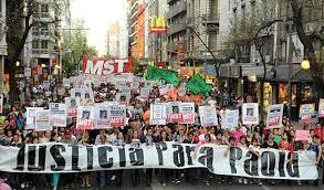 Resultado de imagem para manifestação na argentina do último domingo