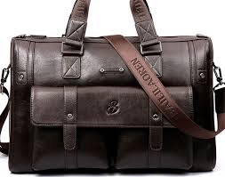 Cheap Price <b>BAILLR Brand Man Bag</b> Leather Black Briefcase Men ...