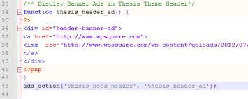 How to add Header Widget in Thesis to Display Banner Ads Add Header Widget in Thesis to Display Banner Ads