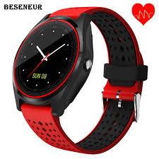 Beseneur <b>V9</b> HR <b>Smart Watch</b> with Camera <b>Bluetooth Smartwatch</b> ...