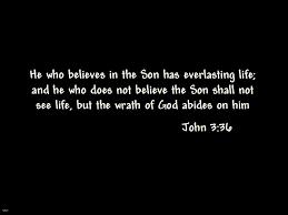 Resultado de imagem para John 3 36