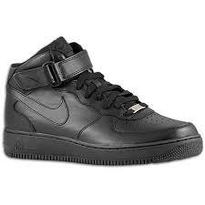 nike air force 1 mid mens all black black air force 1 nike