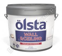 <b>Краска</b> для стен и потолков <b>OLSTA Wall&ceiling БАЗА</b> A 0.9 л ...