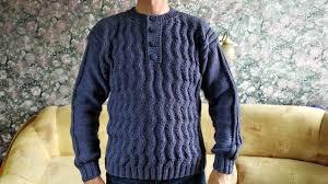 <b>Мужской пуловер</b> с застёжкой«Поло»спицами.МК. - YouTube