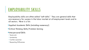 wioa numeracy and employability skills what exactly are they employability skills employability skills are often called soft skills they are general skills that are