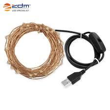 <b>ZDM 10M</b> 100 Bead 3W <b>USB Copper</b> Wire Warm Cold Colorful Light ...