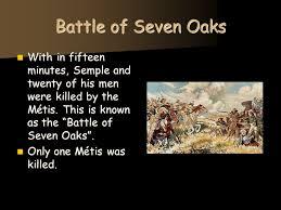 「Battle of Seven Oaks」の画像検索結果