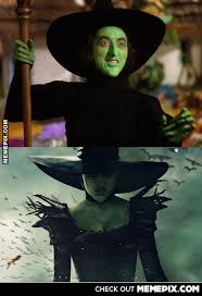 Wicked Witch of the West 1939 and 2013 - MemePix via Relatably.com