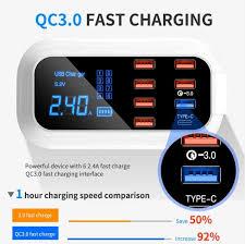 8 Port <b>USB Charger</b> HUB   Quick <b>Charge</b> 3.0   LED Display   <b>Multi</b> ...