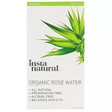 InstaNatural, <b>Organic Rose Water</b>, <b>Alcohol-Free</b>, 4 fl oz