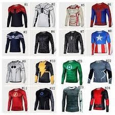 Long Sleeve T-<b>Shirts Superhero</b> Marvel DC <b>Costume Batman</b> ...