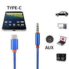 Type C to aux Audio <b>Cable Adapter 1m</b> Extended letv Audio Liner ...