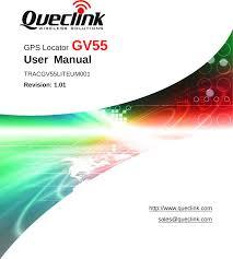 <b>GV55 GPS</b> Locator User Manual GV55_20120809 <b>Queclink</b> ...