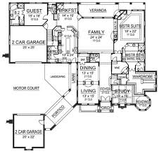 Winged Foot   Bedrooms and Baths   The House DesignersFirst Floor