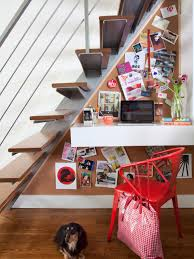 room ideas small spaces decorating:  original brian patrick flynn small space workspace under stairs sxjpgrendhgtvcom