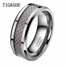 <b>TIGRADE 8mm</b> Carbon Fiber Inlay Tungsten Carbide Wedding ...