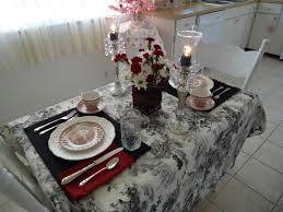 Tablecloths For Dining Room Tables Dining Room Monochromr Tablecloth With Flower Vase And Crystal