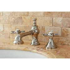 kingston brass polished french country widespread french country polished nickel widespread bathroom faucet