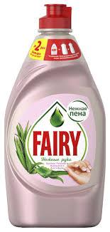 Fairy <b>Средство</b> для мытья <b>посуды</b> Розовый жасмин и <b>алоэ</b> вера ...