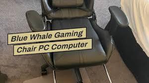Blue <b>Whale</b> Gaming <b>Chair PC Computer</b> Game <b>Chair</b> with Footrest ...