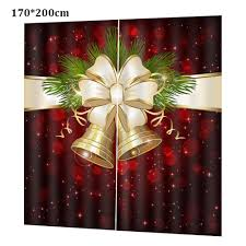 <b>Christmas Decoration Digital Printing</b> Bell Curtains Thickened ...