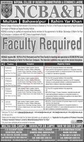 ncba e jobs 2016 teaching faculty in multan bahawalpur ncba e jobs 2016 teaching faculty in multan bahawalpur rahim yar khan campuses latest